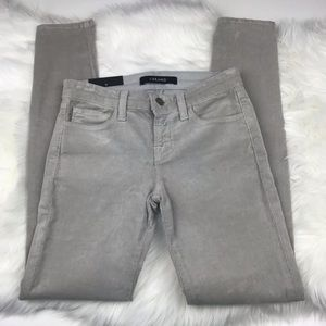 J Brand Light Gray Corduroy Skinny Pants sz 25
